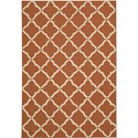 "Nourison Portico 2'3"" x 3'9"" Orange Area Rug - Item Number: 10724"