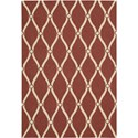 "Nourison Portico 2'3"" x 3'9"" Red Area Rug - Item Number: 10742"