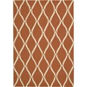 "Nourison Portico 2'3"" x 3'9"" Orange Area Rug - Item Number: 10751"