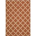 """Nourison Portico 5' x 7'6"""" Orange Area Rug - Item Number: 21717"""