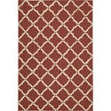 "Nourison Portico 3'6"" x 5'6"" Red Area Rug - Item Number: 21719"