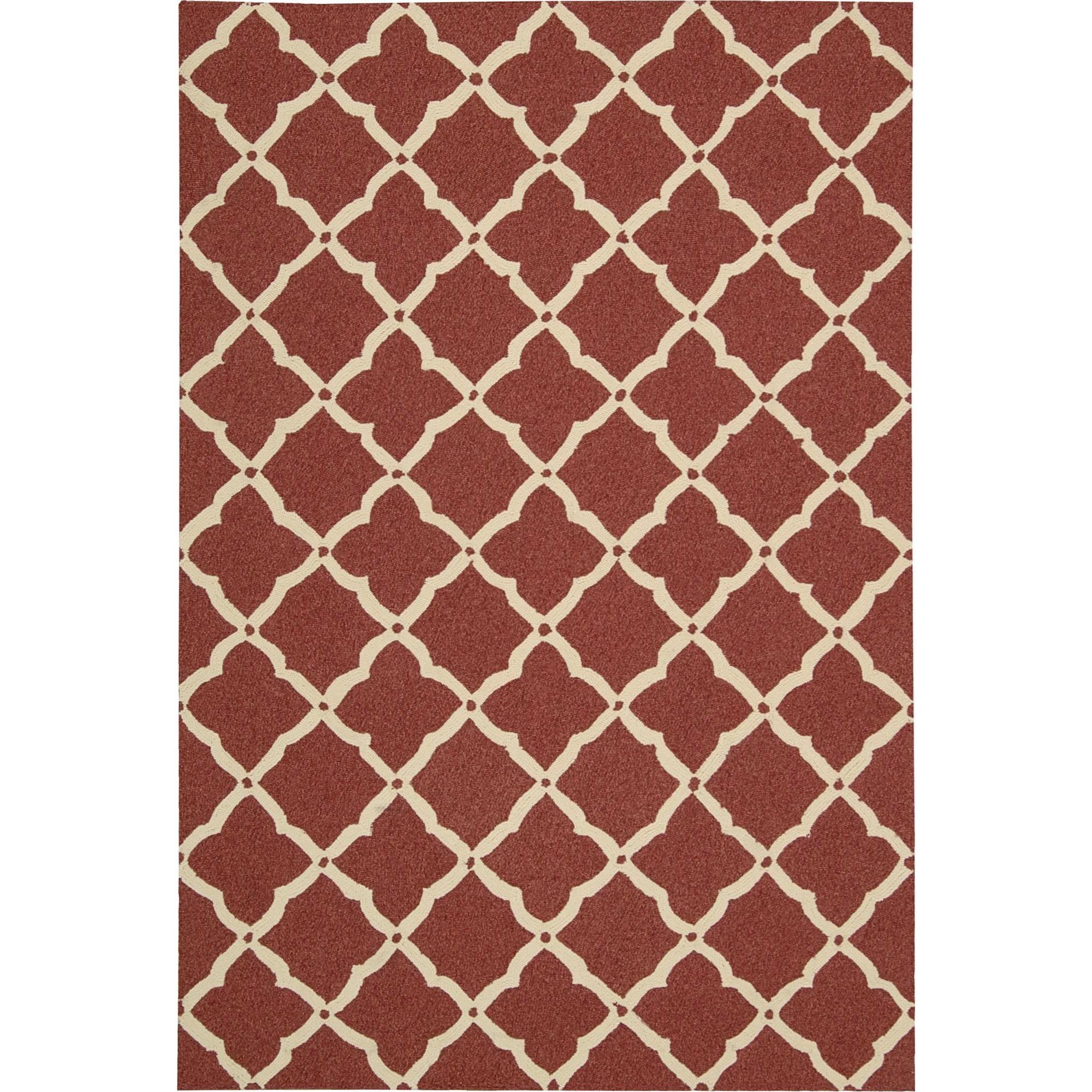 Nourison Portico 2' x 3' Red Area Rug - Item Number: 21726