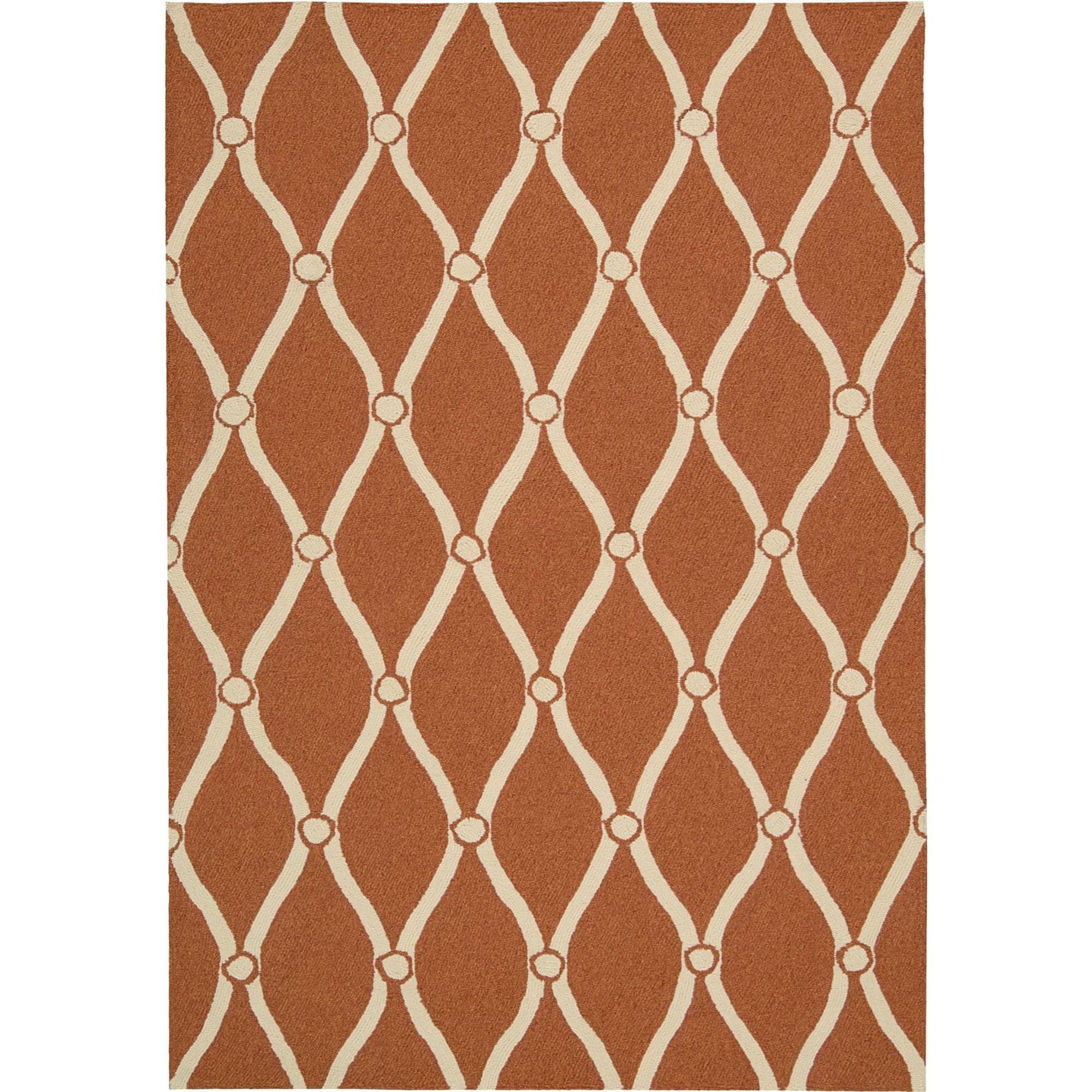 Nourison Portico 10' x 13' Orange Area Rug - Item Number: 21736