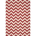 "Nourison Portico 5' x 7'6"" Red Area Rug - Item Number: 27718"