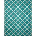 Nourison Portico 10' x 13' Aqua Rectangle Rug - Item Number: POR01 AQU 10X13
