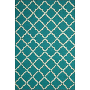 "Nourison Portico 2'3"" x 3'9"" Aqua Rectangle Rug"