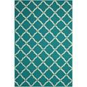 Nourison Portico 2' x 3' Aqua Rectangle Rug - Item Number: POR01 AQU 2X3