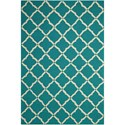 "Nourison Portico 5' x 7'6"" Aqua Rectangle Rug - Item Number: POR01 AQU 5X76"