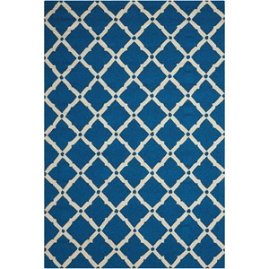 "Nourison Portico 2'3"" x 3'9"" Navy Rectangle Rug"