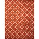 Nourison Portico 10' x 13' Orange Rectangle Rug - Item Number: POR01 ORG 10X13