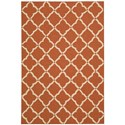 "Nourison Portico 2'3"" x 3'9"" Orange Rectangle Rug - Item Number: POR01 ORG 23X39"