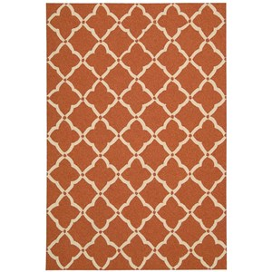 "Nourison Portico 3'6"" x 5'6"" Orange Rectangle Rug"