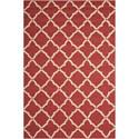 Nourison Portico 2' x 3' Red Rectangle Rug - Item Number: POR01 RED 2X3