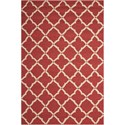 "Nourison Portico 5' x 7'6"" Red Rectangle Rug - Item Number: POR01 RED 5X76"
