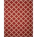 "Nourison Portico 8' x 10'6"" Red Rectangle Rug - Item Number: POR01 RED 8X106"