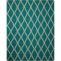 Nourison Portico 10' x 13' Aqua Rectangle Rug - Item Number: POR02 AQU 10X13