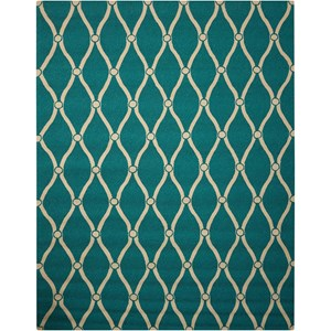 "Nourison Portico 8' x 10'6"" Aqua Rectangle Rug"