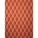 Nourison Portico 10' x 13' Orange Rectangle Rug - Item Number: POR02 ORG 10X13