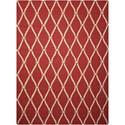 Nourison Portico 10' x 13' Red Rectangle Rug - Item Number: POR02 RED 10X13