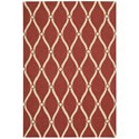 "Nourison Portico 5' x 7'6"" Red Rectangle Rug - Item Number: POR02 RED 5X76"