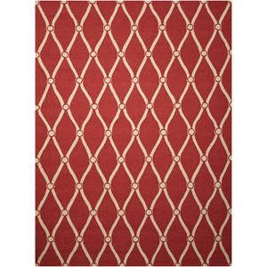"Nourison Portico 8' x 10'6"" Red Rectangle Rug"