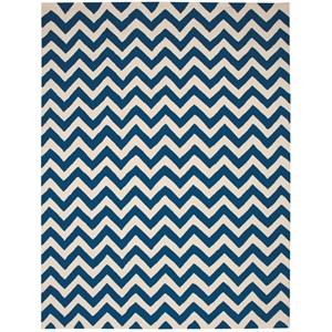 "Nourison Portico 8' x 10'6"" Navy Rectangle Rug"