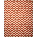 "Nourison Portico 8' x 10'6"" Orange Rectangle Rug - Item Number: POR03 ORG 8X106"