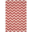 "Nourison Portico 5' x 7'6"" Red Rectangle Rug - Item Number: POR03 RED 5X76"