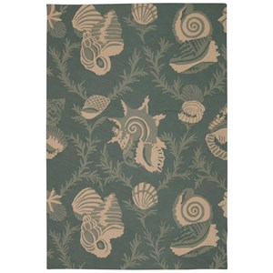 "Nourison Portico 5' x 7'6"" Aqua Rectangle Rug"