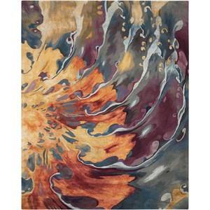 "Nourison Prismatic 8'6"" X 11'6"" Multicolor Rug"