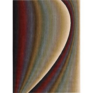 """Nourison Radiant Arts 5'3"""" x 7'5"""" Rainbow Area Rug"""