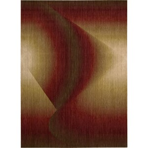 "Nourison Radiant Arts 9'6"" x 13'6"" Ruby Area Rug"