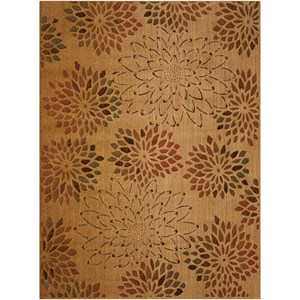 "Nourison Radiant Impression 3'6"" x 5'6"" Beige Rectangle Rug"