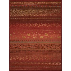 "Nourison Radiant Impression 5'6"" x 7'5"" Crimson Rectangle Rug"