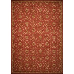 "Nourison Radiant Impression 9'6"" x 13'6"" Persimmon Rectangle Rug"