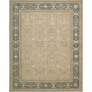 "Nourison Regal 5'6"" x 8'6"" Sand Area Rug"