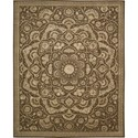 "Nourison Regal 5'6"" x 8'6"" Chocolate Area Rug - Item Number: 05245"