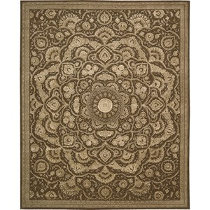 "Nourison Regal 8'6"" x 11'6"" Chocolate Area Rug"