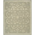 "Nourison Regal 7'9"" x 9'9"" Green Area Rug - Item Number: 05254"