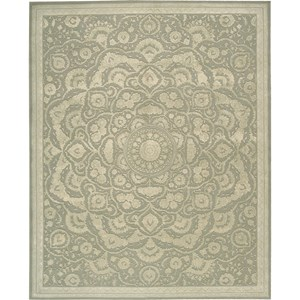 "Nourison Regal 9'9"" x 13'9"" Green Area Rug"