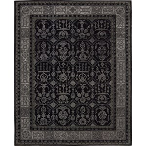 "Nourison Regal 3'9"" x 5'9"" Black Area Rug"