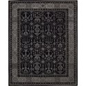 "Nourison Regal 7'9"" x 9'9"" Black Area Rug - Item Number: 05261"