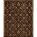 "Nourison Regal 7'9"" x 9'9"" Chocolate Area Rug - Item Number: 05513"