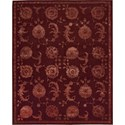 "Nourison Regal 3'9"" x 5'9"" Garnet Area Rug - Item Number: 05534"