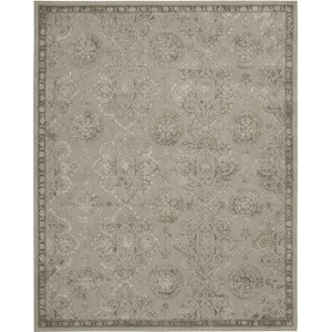 "Nourison Regal 9'9"" x 13'9"" Grey Area Rug"