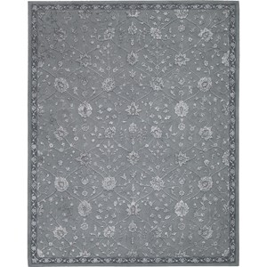 "Nourison Regal 5'6"" x 8'6"" Slate Area Rug"