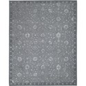 "Nourison Regal 3'9"" x 5'9"" Slate Area Rug - Item Number: 10312"