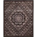 "Nourison Regal 5'6"" x 8'6"" Espresso Area Rug - Item Number: 10316"