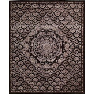 "Nourison Regal 9'9"" x 13'9"" Espresso Area Rug"