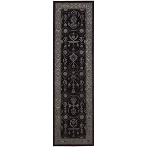 "Nourison Regal 2'3"" x 8' Black Runner Rug"